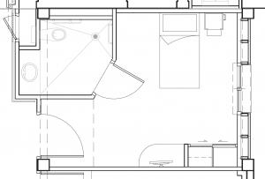 Plan d'une chambre neuve type